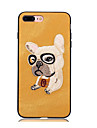 Case For Apple iPhone X iPhone 8 iPhone 8 Plus Pattern Back Cover Dog Hard Textile for iPhone X iPhone 8 Plus iPhone 8 iPhone 7 Plus