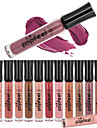 1PCS 12 Color Popfeel Matte Nude Velvet Sexy Vampire Makeup Long Lasting Liquid Lipstick Lip Tint Cream Lip Gloss