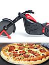motorsykkel pizza cutter rustfritt staal hjul kniv sykkel sykkel ruller pizza chopper slicer peel kniver