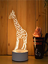 1 Set Of 3D Mood Night Light Hand Feeling Dimmable USB Powered Gift Lamp Giraffe