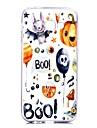 Кейс для Назначение SSamsung Galaxy A5(2017) A3(2017) Прозрачный С узором Задняя крышка Слова / выражения Halloween Мягкий TPU для A3