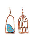 Women\'s Drop Earrings , Mismatch Lovely Sweet Alloy Parrot Jewelry Gold Daily Going out Costume Jewelry