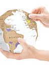 Scratch Map Scratch Off Map of the World for Travelers Brinquedos Esfera Mapa 3D Papel Adulto 1 Pecas