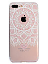 Capinha Para Apple iPhone X iPhone 8 Plus Estampada Capa traseira Mandala Lace Impressao Macia TPU para iPhone X iPhone 8 Plus iPhone 8