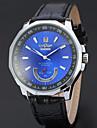 WINNER Men\'s Dress Watch Wrist watch Mechanical Watch Automatic self-winding Calendar / date / day Leather Band Luxury Casual Black
