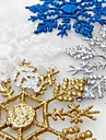 12Pcs/Bag Christmas Tree Window Decoration Artificial Snowflake Bauble Frozen Party Christmas Ornaments For Home Xmas