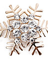 Brooches - Imitation Diamond Snowflake Simple, Classic, Fashion Brooch Gold / Silver For Daily