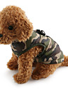 Dog Coat Vest Dog Clothes Camouflage Red Green Blue Pink Camouflage Color Cotton Costume For Pets Men\'s Women\'s Casual/Daily