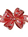 Brooches - Zircon, Gold Plated Bowknot Brooch Red For Christmas / New Year