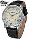 WINNER Men\'s Mechanical Watch Wrist watch Dress Watch Automatic self-winding Calendar / date / day Leather Band Luxury Vintage Casual Cool