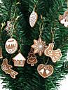 11 pieces en argile polymere fimo ornements d\'arbre de noel flocon de neige bell decoration de noel