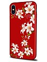 Etui Til Apple iPhone X / iPhone 8 Plus Mønster Bagcover Blomst Blødt TPU for iPhone X / iPhone 8 Plus / iPhone 8