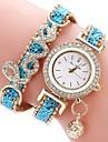 여성용 아동 패션 시계 독특한 창조적 인 시계 모조 다이아몬드 시계 중국어 석영 크로노그래프 방수 캐쥬얼 시계 PU 밴드 캐쥬얼 우아한 크리스마스 블랙 블루 실버 레드 골드 로즈