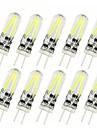 10 stks 2 w g4 gloeidraad cob led spot gloeilamp vervangen 20 w halogeen 150lm kroonluchter verlichting warm / cool licht ac&dc 12v