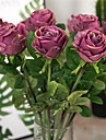 Artificial Flowers 1 Branch Vintage / European Style Roses Tabletop Flower