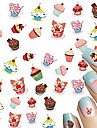 1pcs Nail Art Water Transfer Decals Sweet Cake Image DIY Nail Art Design Decoration Tips STZ-444