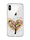 Capinha Para Apple iPhone X iPhone 8 Plus iPhone 7 iPhone 6 Capinha iPhone 5 Transparente Estampada Capa Traseira Arvore Macia TPU para