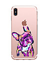 Case For Apple iPhone X iPhone 8 Transparent Pattern Back Cover Dog Soft TPU for iPhone X iPhone 8 Plus iPhone 8 iPhone 7 Plus iPhone 7