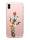 Capinha Para Apple iPhone X iPhone 8 Transparente Estampada Capa traseira Animal Macia TPU para iPhone X iPhone 8 Plus iPhone 8 iPhone 7