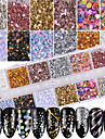 1 комплект Гламур Гель для ногтей Bling Bling Гель для ногтей Порошок блеска Пайетки Советы для ногтей Дизайн ногтей