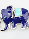 Brooches - Imitation Diamond Elephant, Animal Brooch Silver For Daily