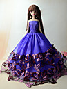 Party/Evening Dresses For Barbie Doll Floral Purple Princess Dress For Girl\'s Doll Toy