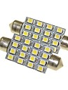 Sencart 2Pcs 16x2835SMD White Car Interior Dome DC 12V Bulb Light Lamp 41mm