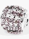 Bijoux bricolage 1 pcs Perles Cristal Alliage Blanc Cylindre Perle 0.5 cm DIY Colliers Tendance Bracelet