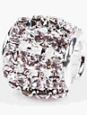 DIY Jewelry 1 pcs Beads Crystal Alloy White Cylinder Bead 0.5 cm DIY Necklace Bracelet