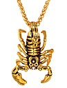 Men\'s Women\'s Pendant Necklace Stainless Steel Scorpion Hip-Hop Cool Gold Silver Necklace Jewelry One-piece Suit For Daily Cosplay Costumes