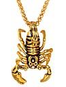 Per uomo Per donna Collane con ciondolo - Acciaio inossidabile Scorpione Hip-hop Fantastico Oro, Argento Collana Gioielli 1 Per Quotidiano, Costumi Cosplay
