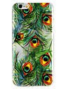 Case For Apple iPhone 6 iPhone 7 Translucent Pattern Embossed Back Cover Feathers Cartoon Soft TPU for iPhone X iPhone 8 Plus iPhone 8