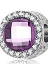 Joias DIY 1 pcs Contas Cristal Imitacoes de Diamante Liga Roxo Azul Real Redonda Bead 0.2 cm faca voce mesmo Colar Pulseiras