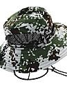Wandelhoed Boonie hoed Hoed Brede rand Zonbescherming UV-bestendig camouflage Katoen Lente voor Heren Dames Jagen Vissen Klimmen Groen
