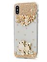 Capinha Para Apple iPhone X iPhone 8 Plus Com Strass Capa Protecao Completa Flor Rigida PU Leather para iPhone X iPhone 8 Plus iPhone 8