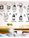 Comida e Bebida Comida Adesivos de Parede Autocolantes 3D para Parede Autocolantes de Parede Decorativos, Papel Decoracao para casa