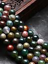 Joias DIY 48 pcs Contas Agata Arco-iris Redonda Forma U Bead 0.8 cm faca voce mesmo Colar Pulseiras