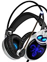 SADES R8 Headband Wired Headphones Dynamic Plastic Gaming Earphone with Microphone Headset
