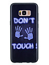Case For Samsung Galaxy S8 Plus S8 Pattern Back Cover Word / Phrase Soft TPU for S8 Plus S8 S7 edge S7 S6 edge S6