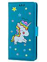 Кейс для Назначение Sony Xperia XZ Бумажник для карт со стендом Флип С узором Чехол единорогом Твердый Кожа PU для Sony Xperia XZ Sony