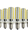 YWXLIGHT® 6pcs 7W 600-700lm E14 LED Bi-pin Lights T 152 LED Beads SMD 3014 Dimmable Decorative Warm White Cold White 110-130V 220-240V
