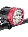 Φακοί Κεφαλιού Προβολέων Ιμάντες φώτα ασφαλείας LED LED 9 Εκτοξευτές 18000 lm 9 τρόπος φωτισμού Κατασκήνωση / Πεζοπορία / Εξερεύνηση Σπηλαίων Καθημερινή Χρήση Ποδηλασία Χρυσό Κόκκινο