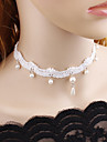 Women\'s Choker Necklace - Lace Floral / Botanicals, Flower European, Fashion White, Black Necklace For Wedding, Party / Evening
