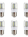 BRELONG® 6pcs 3W 270lm E14 E26 / E27 LED Corn Lights 24 LED Beads SMD 5730 Warm White White 220-240V