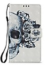 Case For Sony Xperia XZ1 Xperia L2 Card Holder Wallet with Stand Flip Magnetic Full Body Cases Skull Hard PU Leather for Xperia XA2 Sony