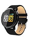 Q8 Damen Smartwatch Android iOS Bluetooth Herzschlagmonitor APP-Steuerung Verbrannte Kalorien UEbungs Tabelle Anruferinnerung Schrittzaehler Anruferinnerung Schlaf-Tracker Sedentary Erinnerung Finden