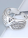 Women\'s Band Ring - Alloy Ladies, Vintage, European, Fashion Jewelry Silver For Daily Adjustable