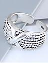 Γυναικεία X δακτύλιο Band Ring Κράμα κυρίες Βίντατζ Ευρωπαϊκό Μοντέρνα Μοδάτο Δαχτυλίδι Κοσμήματα Ασημί Για Καθημερινά Ρυθμιζόμενο