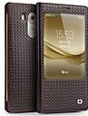 غطاء من أجل Huawei Mate 9 / Mate 8 ضد الصدمات / مع نافذة / قلب غطاء كامل للجسم لون الصلبة قاسي جلد أصلي إلى Huawei Mate 8