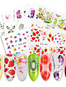58 pcs Nail Decals Stickers & Tapes / Water Transfer Sticker / Nail Sticker Accessory / Stickers / DIY Cute
